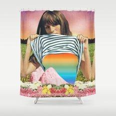 Internal Rainbow II Shower Curtain