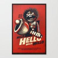 HELLO! HELLO! (red) Canvas Print