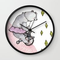 Cycling Bear Wall Clock