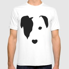 Jack Russell Mens Fitted Tee White SMALL