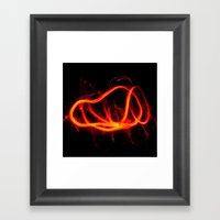 Tongues Of Fire Framed Art Print