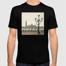 Sunny Morning at San Marco Mens Fitted Tee Black SMALL