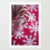 Candy Cane Christmas  Art Print