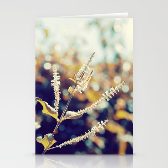I sit in my garden, gazing upon a beauty that cannot gaze upon itself.   Stationery Card