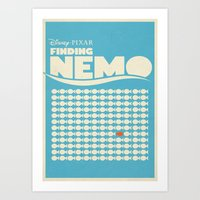 Finding Nemo Movie Poster Art Print