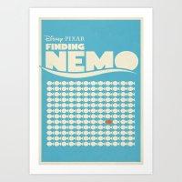 Finding Nemo Movie Poste… Art Print