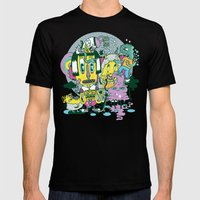 Catching Ideas. Mens Fitted Tee Black SMALL
