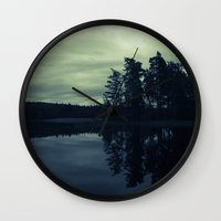Lake By Night Wall Clock
