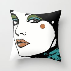 Green Eyeshadow  Throw Pillow