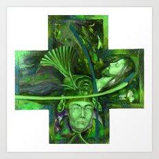Religion green Art Print