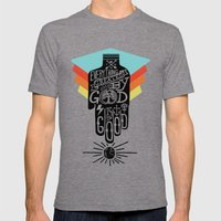 It's Good Mens Fitted Tee Tri-Grey SMALL