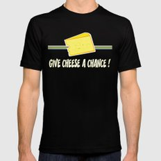 Give cheese a chance Black Mens Fitted Tee SMALL