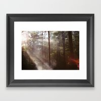Smoke Rising Framed Art Print