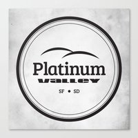 Platinum Valley Canvas Print
