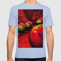 Marbles Mens Fitted Tee Tri-Blue SMALL