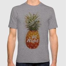 All Right. (Tropical) Mens Fitted Tee Athletic Grey SMALL