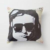 Joan Didion: Slouching T… Throw Pillow