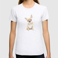 Chihuahua Womens Fitted Tee Ash Grey SMALL