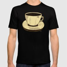 good ol' cup of coffee, I. Mens Fitted Tee Black SMALL