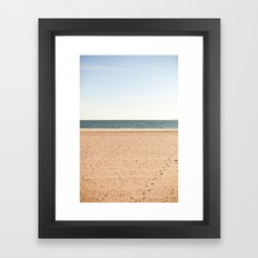 Sand, sea, sky Framed Art Print
