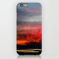 iPhone Cases featuring Night Lights Moving Sunset 2 by David Hohmann
