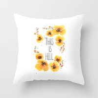 This Is Hell Throw Pillow