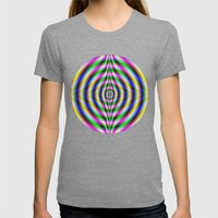 Neon Eye Womens Fitted Tee Tri-Grey SMALL