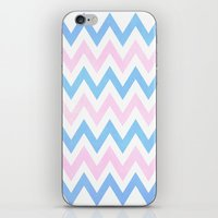 Blue Pink Chevron Patter… iPhone & iPod Skin