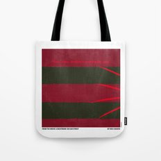 No265 My NIGHTMARE ON ELMSTREET minimal movie poster Tote Bag
