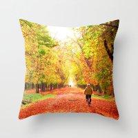 My autumn symphony Throw Pillow
