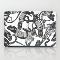 Just Lizards Black White iPad Case