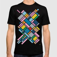 Map Outline 45  Mens Fitted Tee Black SMALL