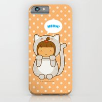 iPhone & iPod Case featuring Meow by Pigtails