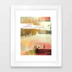 Without Care Like Birds Framed Art Print