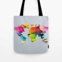 Geo World Map Tote Bag