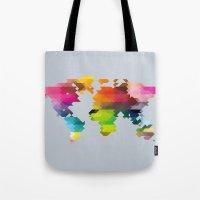 Geo World Map Tote Bag