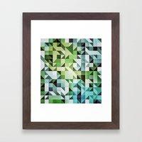 :: geometric maze II :: Framed Art Print