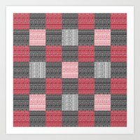 Red, White & Black Pattern Attack Art Print