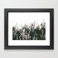 White to Light Framed Art Print