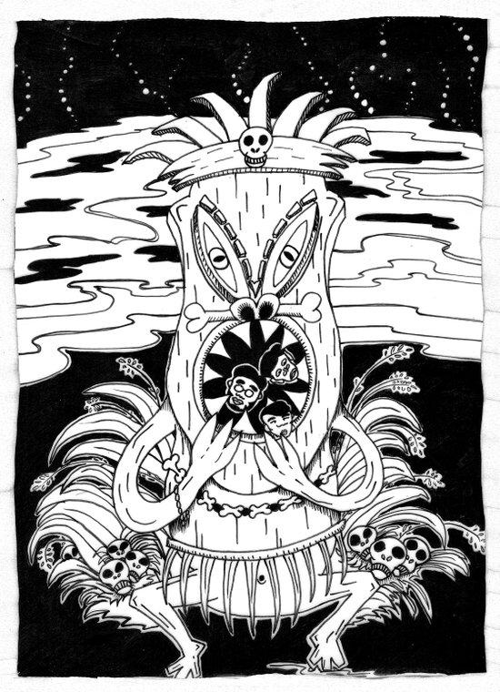 Tiki lunch Art Print
