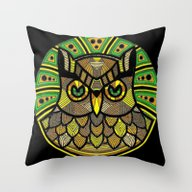 Throw Pillow featuring Owl Mandala by SwanniePhotoArt