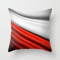 Flag Of Poland Throw Pillow