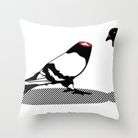 Pigeon And Head Throw Pillow