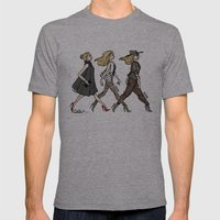 Fashion Girls Mens Fitted Tee Athletic Grey SMALL