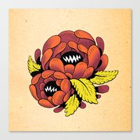 Grim Blossom Canvas Print
