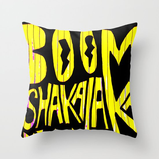 BOOM Shakalaka Throw Pillow