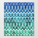 Triangle Tribal Canvas Print