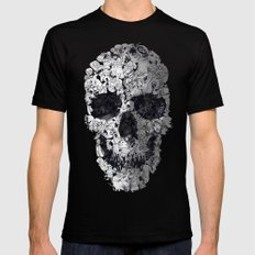 Doodle Skull Black SMALL Mens Fitted Tee