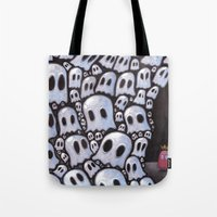 100 ghosts Tote Bag