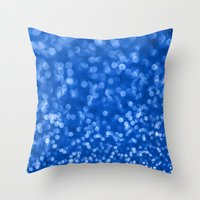 Ambient 4 Blue Throw Pillow